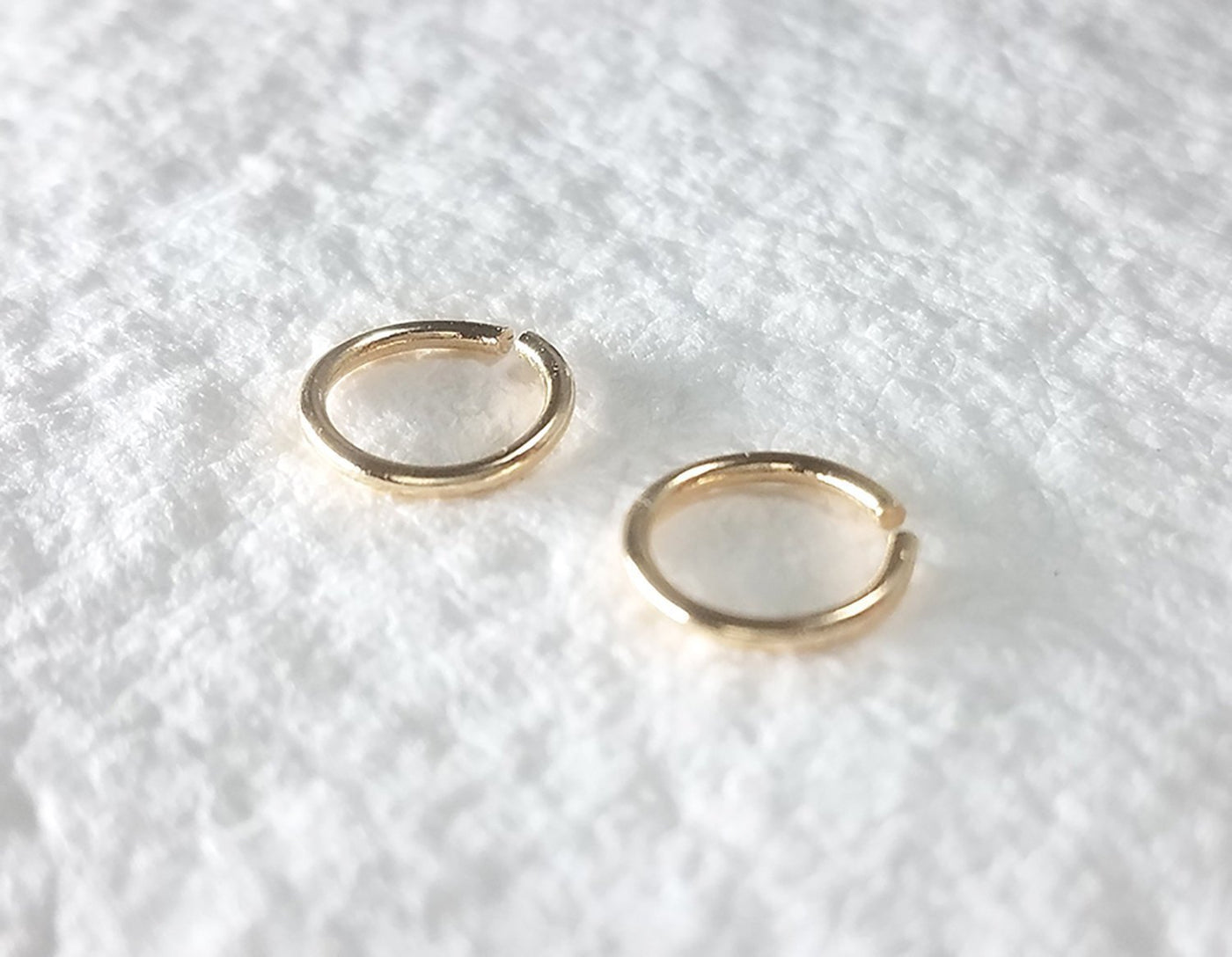 14k yellow gold hoops, round earrings, small hoops, everyday earrings, karat1424