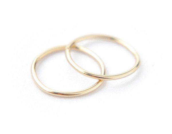 14k yellow gold hoops, simple earrings, small hoops, karat1424