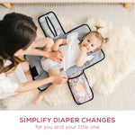 Portable Diaper Changing Pad - Grey