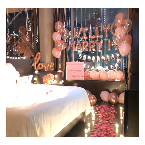 Marry Me Proposal Balloon Setup 1 [Delivery only]