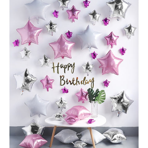 Pink Stars Birthday Party Decoration DIY Pack
