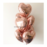 Heart Foil Balloon Bouquet