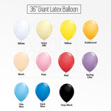 36 inch Perfectly Round Giant Plain Balloon with Tassel Garland