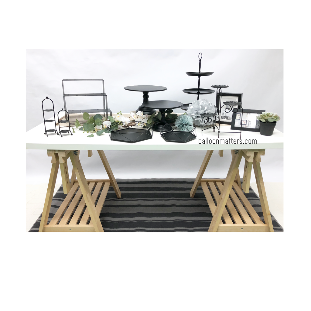 Dessert Table - Minimalist Black