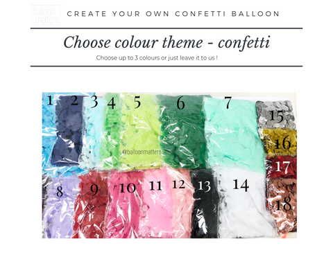 Create Your Own Confetti Balloon