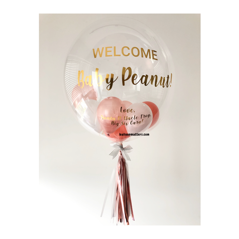 Rose Gold Coral Bubble Balloon