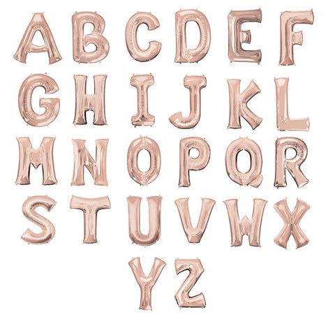 16 inch Rose Gold Letter Foil Balloon
