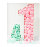 Giant Balloon Mosaic - Number & Letter filled with balloons