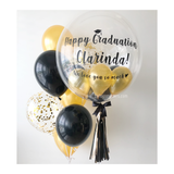 Black Gold Bubble Balloon