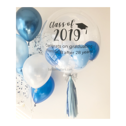 Blue White Bubble Balloon