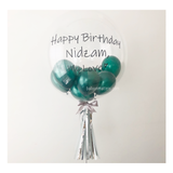 Forest Green Bubble Balloon