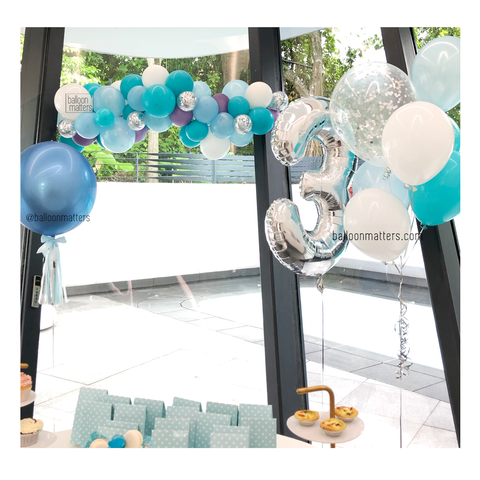 Custom Colour Balloon Garland Setup