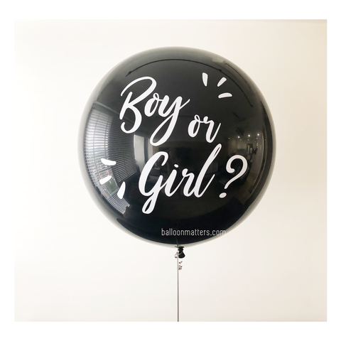 36 inch Gender Reveal Balloon - with Pink or Blue confetti