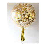 36 inch Giant Gold Confetti Balloon