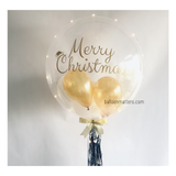 MERRY CHRISTMAS BUBBLE BALLOON