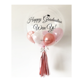 Rose Gold Pink Graduation Bubble Balloon