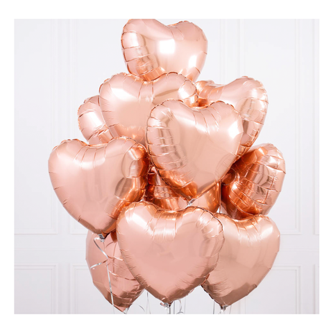One Dozen Heart Balloon Bouquet