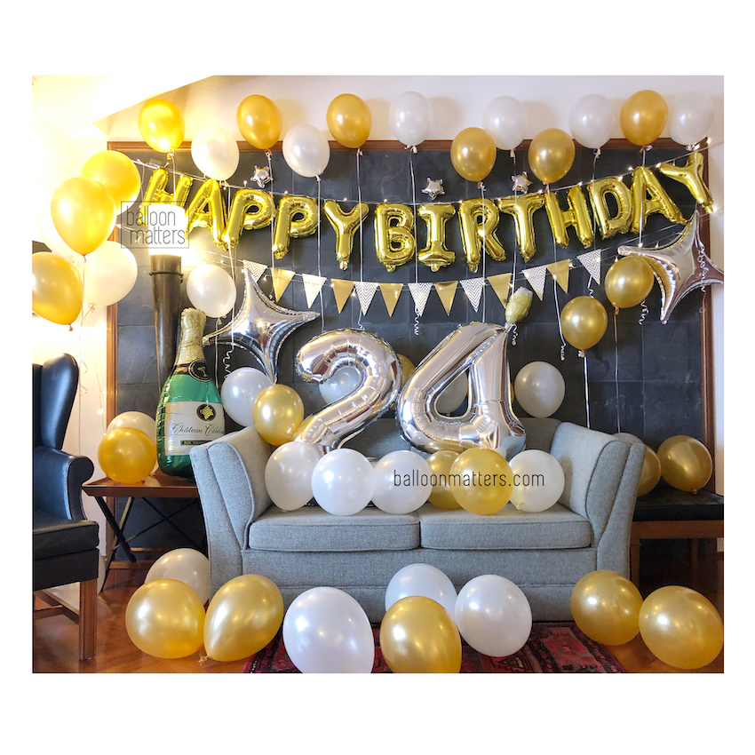 Elegant Birthday Balloon Pack 2 [Delivery only]