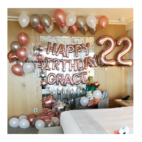 Elegant Birthday Balloon Pack 3 [Delivery only]
