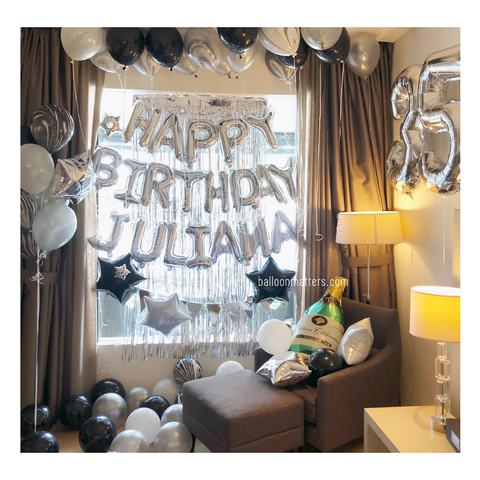 Elegant Birthday Balloon Setup 1 [Delivery only]