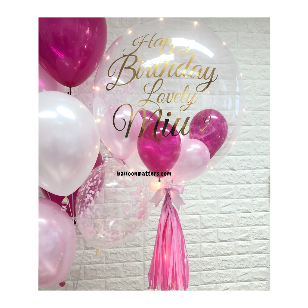 Magenta Pink Bubble Balloon