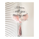Marry Me Rose Gold Bubble Balloon