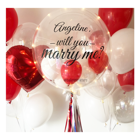 Marry Me Bubble Balloon