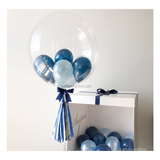 Midnight Blue Personalised Balloon Surprise Box
