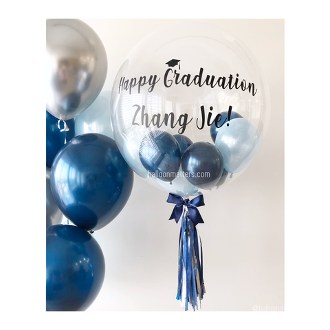 Midnight Blue Bubble Balloon