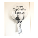 Black White Bubble Balloon