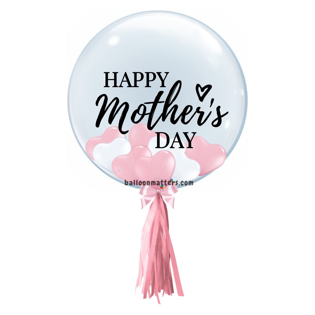 Mother's Day Balloon - Pink White Heart