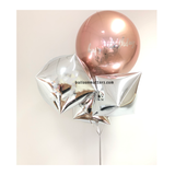 Giant Rose Gold Orbz Balloon Bouquet