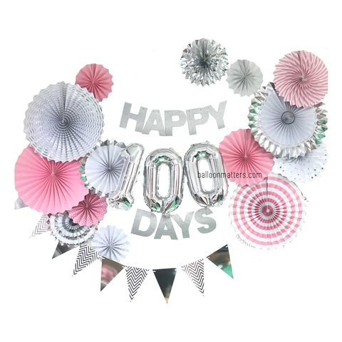 Happy 100 Days Party Decor - Pink