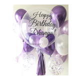 Purple Bubble Balloon