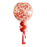 36 inch Giant Red Confetti Balloon