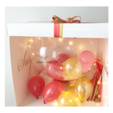 Red Gold Personalised Balloon Surprise Box