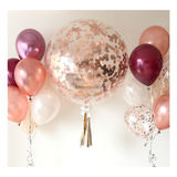 36 inch Giant Rose Gold Confetti Balloon