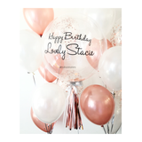 Rose Gold Confetti Bubble Balloon
