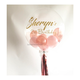 Rose Gold Pink Bubble Balloon