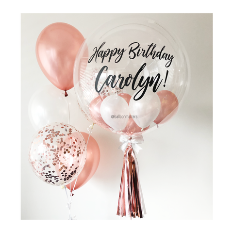 Rose Gold Bubble Balloon