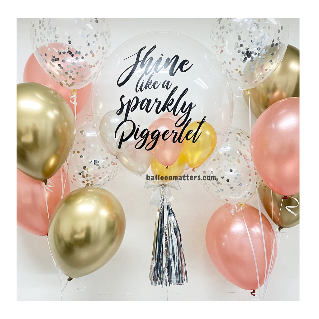 Rose Gold Silver Gold Bubble Balloon