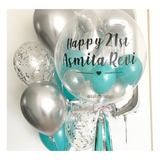 Teal and Silver Bubble Balloon