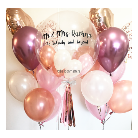 Rose Gold Pearl Pink Bubble Balloon