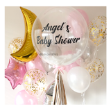 White Feather Bubble Balloon