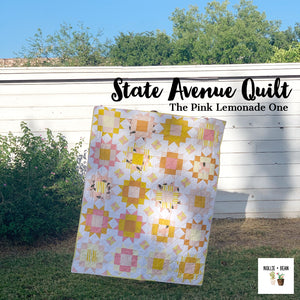 State Avenue Quilt - The Pink Lemonade One