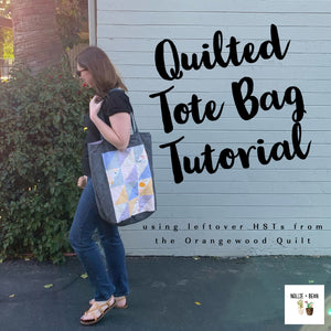 Quilted Tote Bag tutorial inspired by the Orangewood Quilt