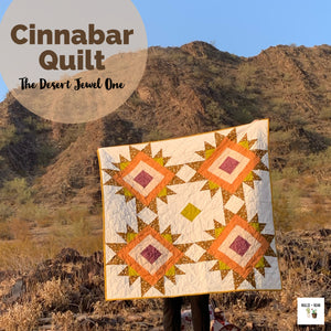 Cinnabar Quilt:  The Desert Jewel One