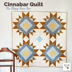 Cinnabar Quilt:  The Sleepy Bear One