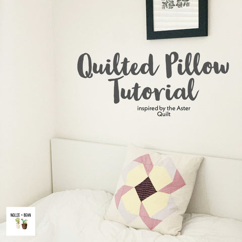 Quilted Pillow inspired by the aster quilt pattern