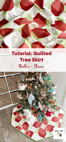 Quilted Tree Skirt Tutorial Using the Aster Quilt Pattern by Nollie + Bean
